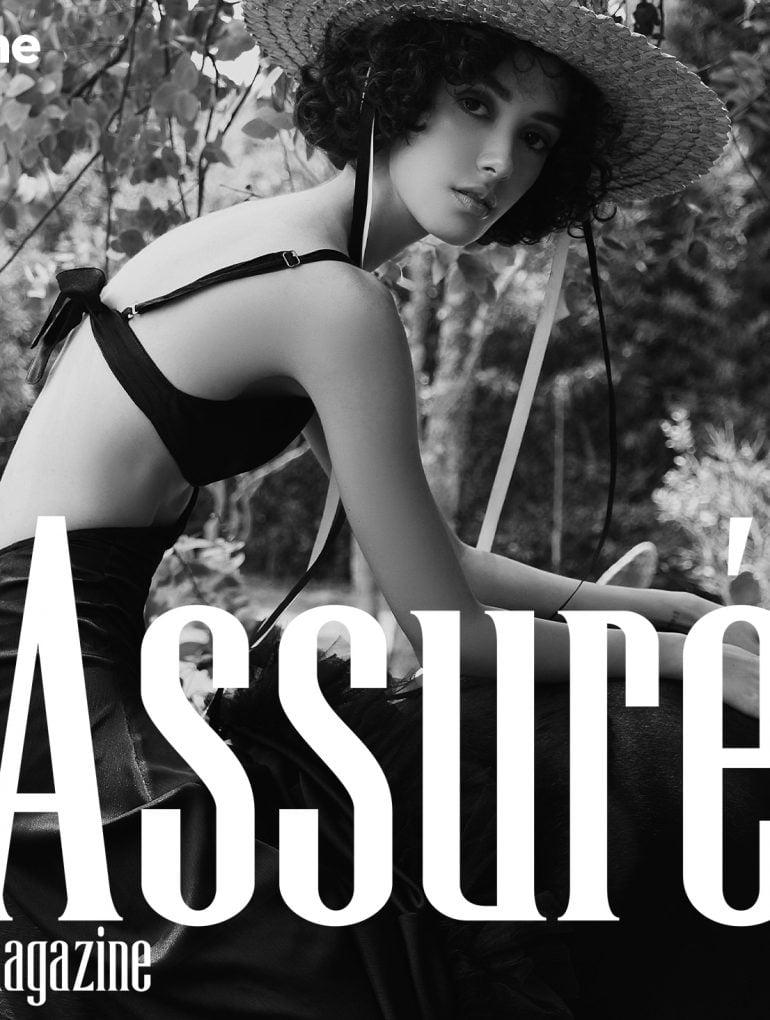 black horse fashion editorial cover image